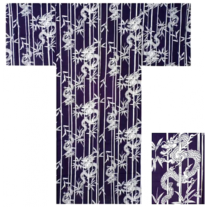 "Yukata Take Ryu homme Taille  2L (180~190cm) ""Made in Japan"""