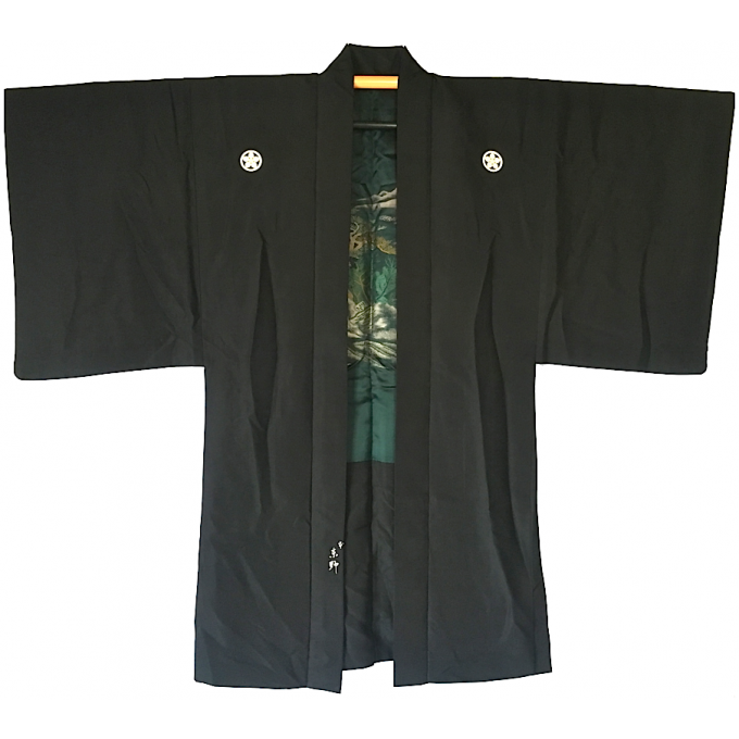 "Ancien haori Yama No Keshiki Umebachi Montsuki homme ""Made in Japan"""