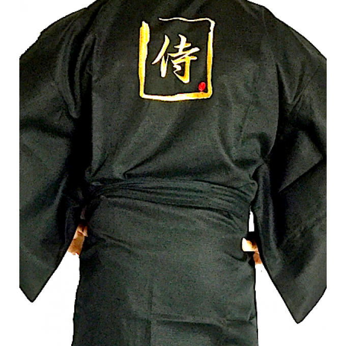 "Happi samourai coton noir homme ""Made in Japan"""