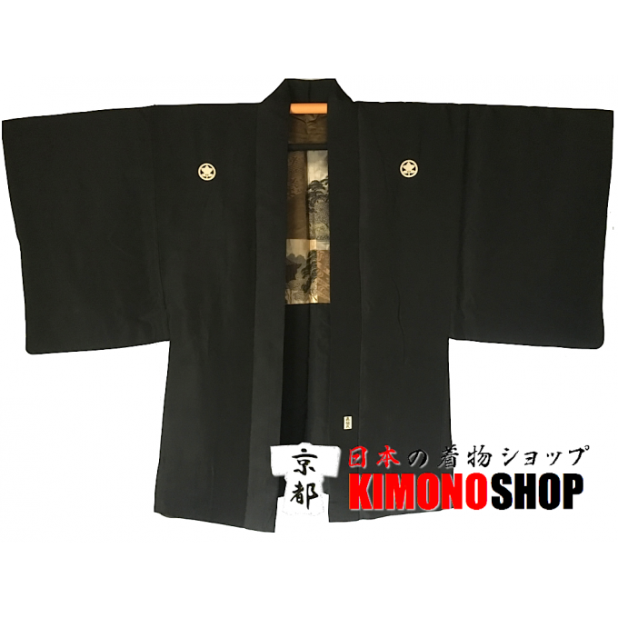 "Ancien haori samourai Nara Tachibana Montsuki homme ""Made in Japan"""