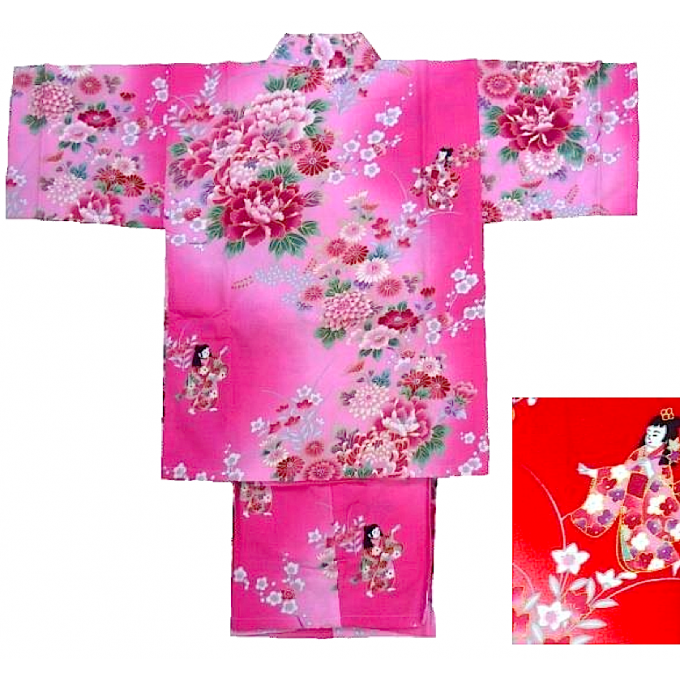 "Jinbei Bokashi Ningyo enfant (fille) ""Made in Japan"""