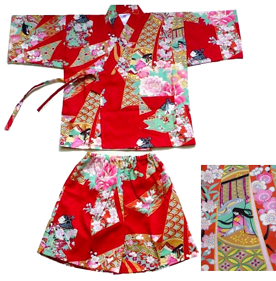 "Jinbei Noshime Ningyo enfant (fille) ""Made in Japan"""