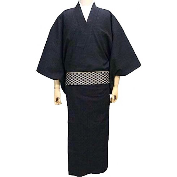 "Kimono traditionnel japonais haute couture coton homme ""HandMade in Japan"""