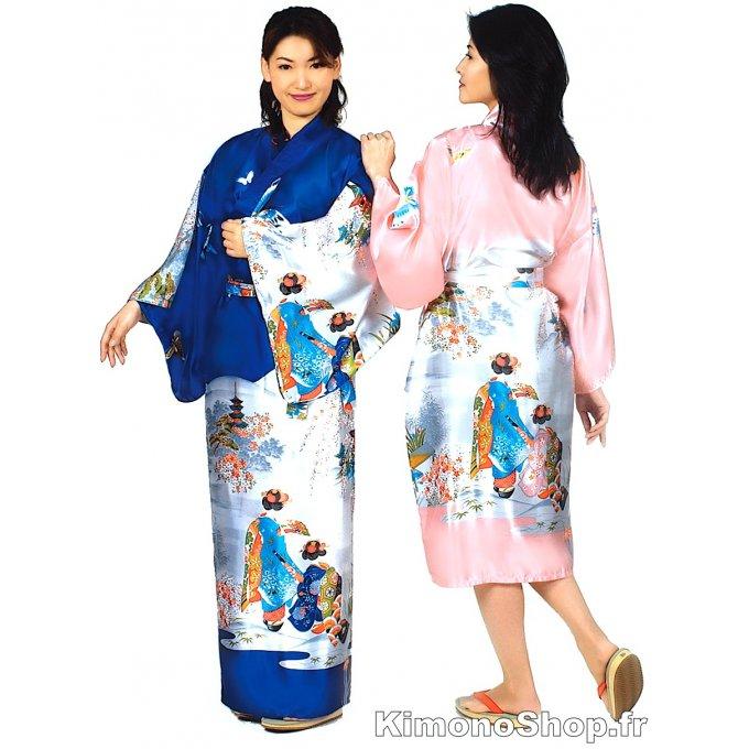 3dec8a88af34 Kimono japonais Maiko polyester femme