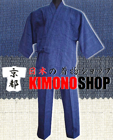 "Samue Ajiro coton bleu marine Taille M ""Made in Japan"""