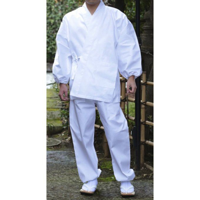 "Samue Zen blanc coton homme  ""Made in Japan"""