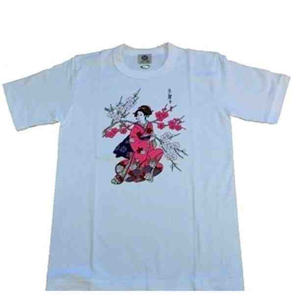 Tee shirt japonais Kyoto Geisha Made in Japan