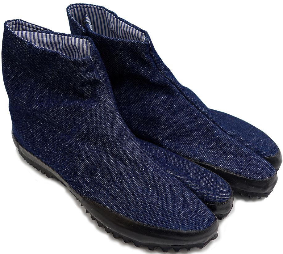 "Jikatabi Denim Wamon bleu marine ""HandMade in Japan"" (Fait main au Japon)"